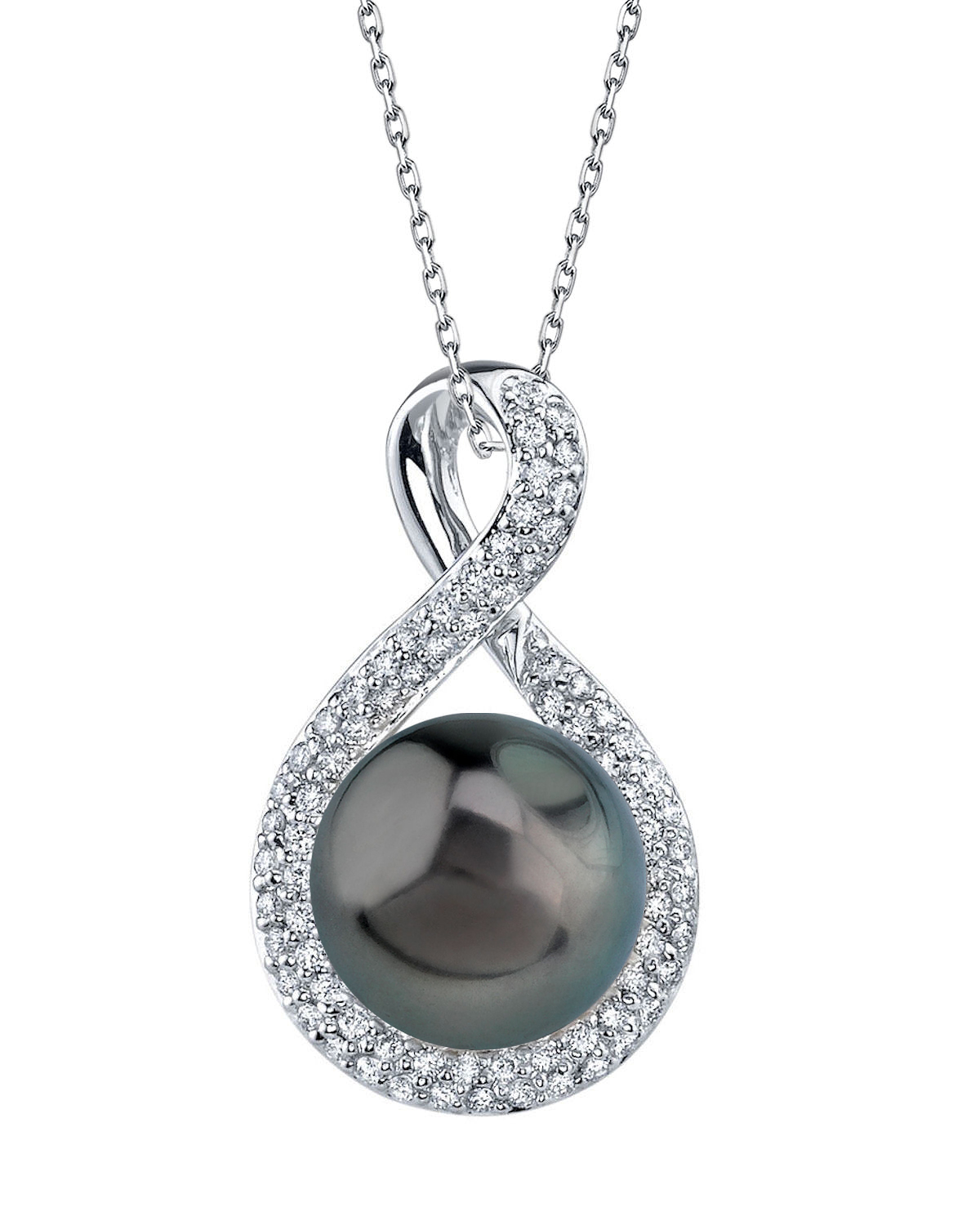 Tahitian South Sea Pearl & Diamond Erica Pendant
